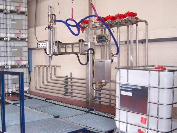 palletvulmachine, vloeistofafvulmachine, afvulmachine, vulmachine, bulkfiller, vloeistoffen afvullen