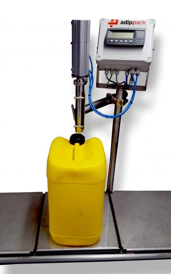 vloeistoffen afvullen, afvulmachine, vulmachine, gravimetrisch, op gewicht afvullen