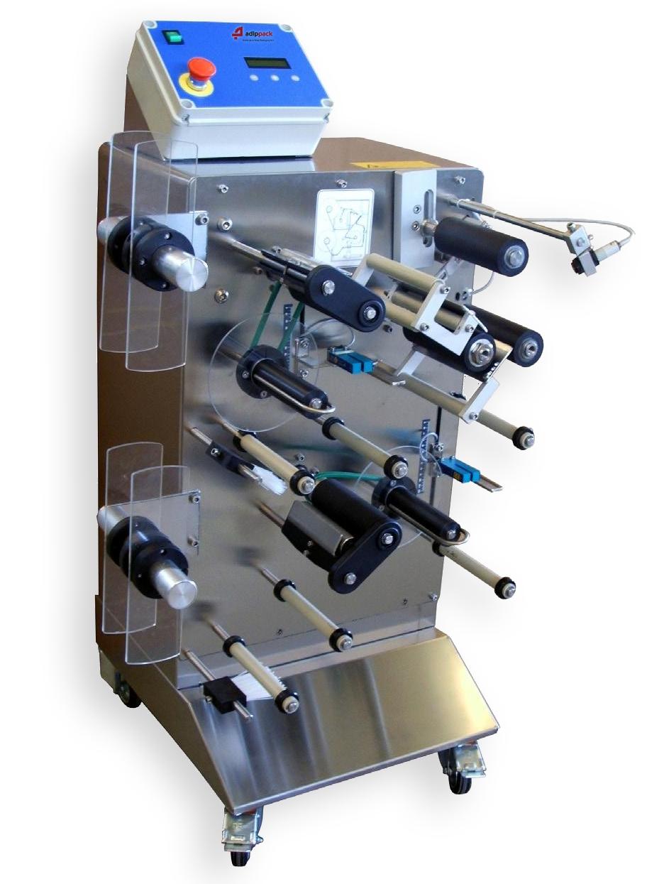 etiketteermachine, labelmachine, labeler, tweevoudig etiket, dubbel etiketteren, twee labels, twee etiketten