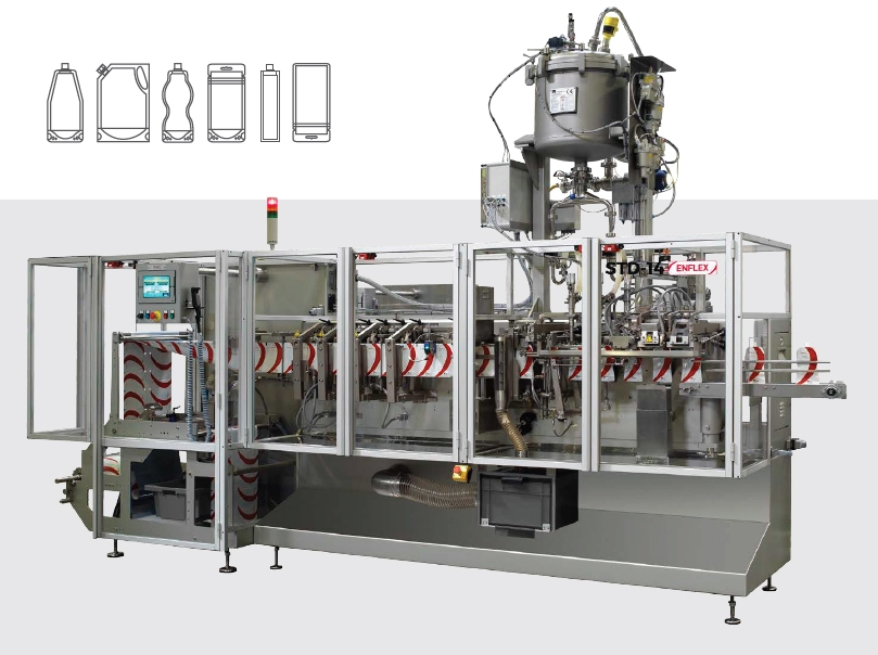 pouch machine, standup pouche, form fill seal, horizontale vulmachine, packaging machine