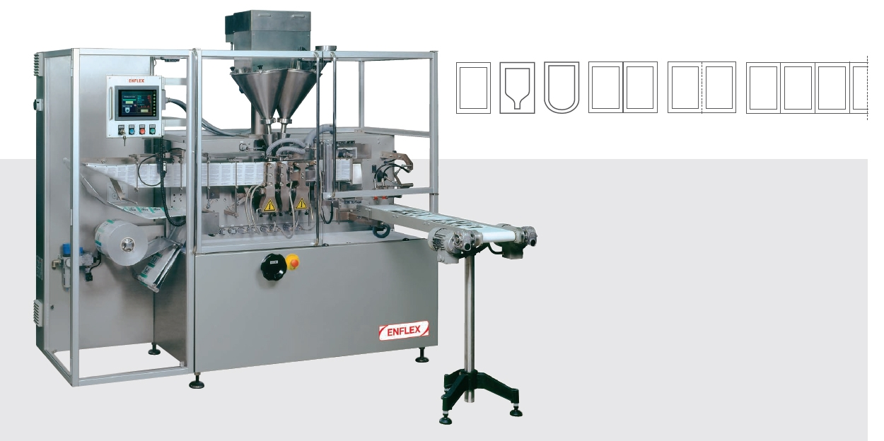 pouch machine, horizontale vulmachine, vulmachine, volpak
